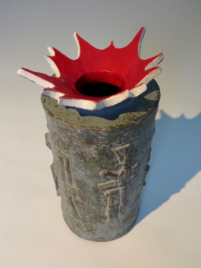 Bam! Bam! Vase by Kevin Eaton