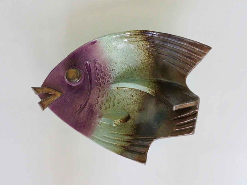 Purple-Turquoise-Gold Fish (2018) by Kevin Eaton